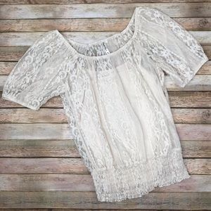 HeartSoul Lace Lined Top XL